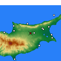Nearby Forecast Locations - Λευκωσία - Χάρτης